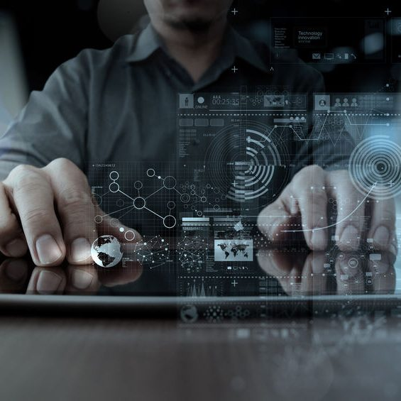47328897 - businessman hand working with modern technology digital tablet computer and digital layer effect as business strategy concept